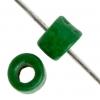 Ceramic Bead Circle 6X4mm Green